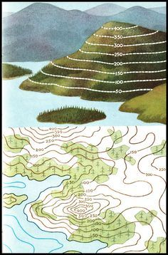 Ladybird series 671 - Understanding Maps - Re-Wilding 8th Grade Science, Middle School Science, Teaching Geography, Teaching Science, Compass Navigation, Contour Line, Map Skills, Earth From Space, Topographic Map