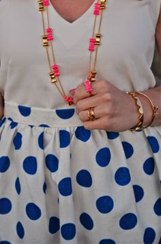 Rachel from A Preppy State of Mind in Juliana's Boutique's Connect the Dots skirt!
