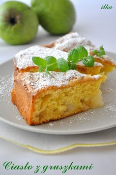 Ciasto z gruszkami French Toast, Cheesecake, Pizza, Cooking Recipes, Sweets, Breakfast, Food, Cakes, Cheesecake Cake