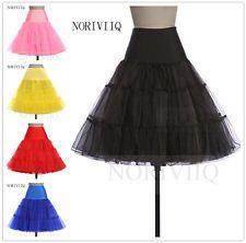 "NORIVIIQ Women's 50s Vintage Rockabilly Petticoat, 25"" Length Slip Underskirt UK"