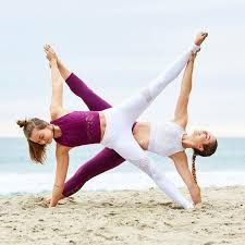 Image result for two person yoga poses