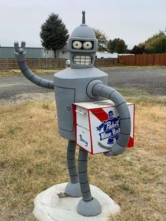 Random Funny Pictures Of The Day 34 Pics Funny Mailboxes, Unique Mailboxes, Vintage Mailbox, Tailgate Bench, Garage Art, Scrap Metal Art, Funny Animal Pictures, Random Pictures, Art For Art Sake
