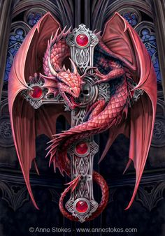Gothic dragon_by Anne Stokes.jpg (439×630)