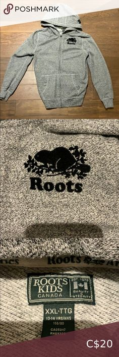 🌟2/$25🌟 Roots hoodie kids Grey hoodie Fits small women Roots Shirts & Tops Sweaters Plus Fashion, Fashion Tips, Fashion Trends, Grey Hoodie, Kids Shirts, Roots, Gray Color, Kids Shop, Hoodies