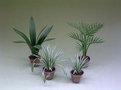 Instruction sheet for small indoor plants for 1/12th scale Dollhouses, Florists and Miniature Gardens