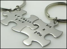 Hand stampedvalentinescouple by TaylordMetals on Etsy, $20.00