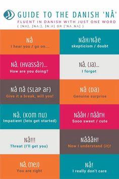 "Guide to the Danish word ""Nå""."