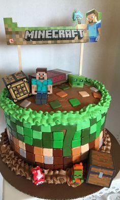 Minecraft cake I made for my grandsons 7th Birthday.