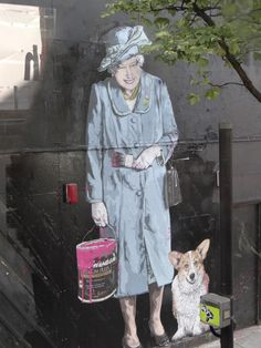 Street art by Banksy in London.
