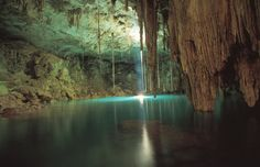 Cenote Dzitnup in Valladolid, Mexico.