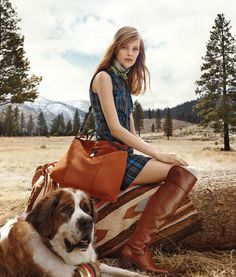 Tommy Hilfiger leather boots get a hiker chic twist in the Hilfiger Collection Fall '14