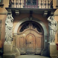 Sibiu - House with caryatids Romania, House, Decor, Decoration, Home, Decorating, Homes, Houses, Deco