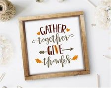 Gather Together Give Thanks Square Sign Fall Quotes Print | Etsy Affordable Wall Art, Give Thanks, Quote Prints, Thankful, Cool Stuff, Etsy, Decor, Decoration, Dekoration