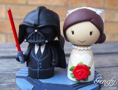 Cute DARTH VADER Star Wars and Bride wedding by GenefyPlayground, £108.00