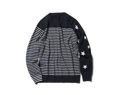 uniform experiment NUMBERING STAR PANEL BORDER CREW NECK KNIT
