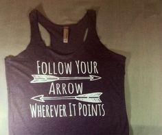 workout tank / Follow your arrow tank top by resilientgirlsclothi, $18.99