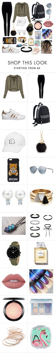 """My style"" by marila2004 ❤ liked on Polyvore featuring RED Valentino, adidas, NIKE, Furla, Moschino, Christian Dior, Brixton, CLUSE, Lime Crime and MAC Cosmetics"