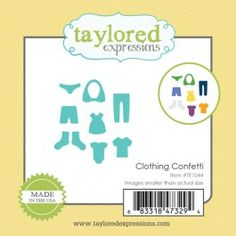 Taylored Expressions - Little Bits - Clothing Confetti. TE1044. $6.00 #laundry #washer #dryer #clothes #laundryroom #die #steeldies #americanmade