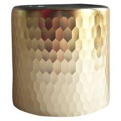 "Faceted Hurricane Vase 5"" Gold - Threshold™ : Target"