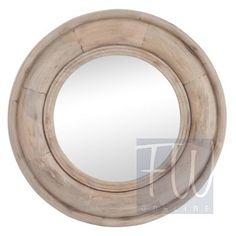 Lustro okrągłe Drewno Brąz 91X5 CM Dekoracje Francuskie - cena | sklep internetowy Francuska Weranda