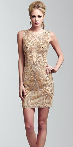 2ddb88f22f Swirl Beaded Cocktail Dresses by Mac Duggal  edressme  pintowin Homecoming  Dresses 2014