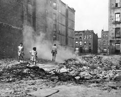"""Sept. 21, 1948: A nightmare for the city's sanitation workers and mysophobes as The Times reported that a ""survey of the areas flanking the New York Central Railroad elevated structure along Park Avenue, where Harlem merges with the Upper East Side, revealed side street conditions even more foul than those that can be seen daily by thousands of railroad travelers."" Photo: Arthur Brower/The New York Times"