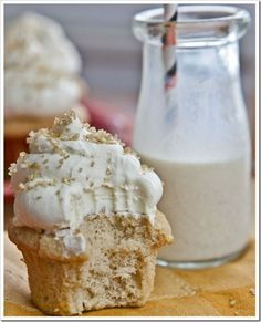 Eggnog Cupcakes and a billion other eggnog recipes.  They look AWESOME.