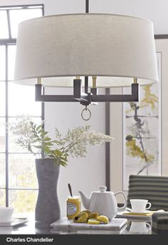 $399 Charles Chandelier Drum shape again, but like the colors and feel - simple and