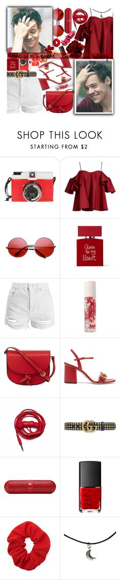 """""""Hope is a weapon. Survival is victory."""" by xcuteniallx ❤ liked on Polyvore featuring Edition, Anna October, INDIE HAIR, Bella Freud, Topshop, Forever 21, KC Jagger, Gucci, Urbanears and Beats by Dr. Dre"""