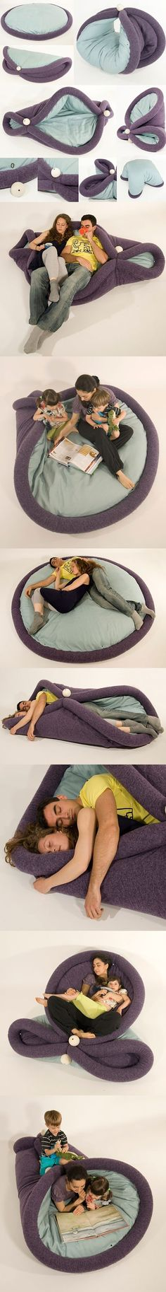 Transformable pad for lazy living... SO cool! I bet you could make this.