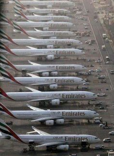 Emirates airlines, one of the biggest airline company in the world!!