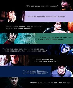 Funny how I think of the exact parts in each movie he says these lines.
