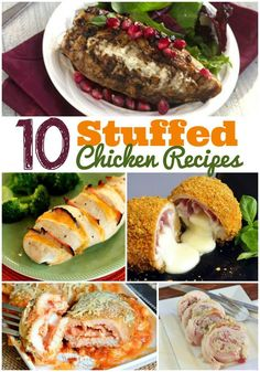 10 Stuffed Chicken Recipes - These delicious recipes are just right for guests or family dinners! - wearychef.com