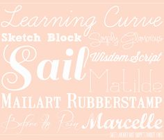 Some Favorite Fonts: Part 1
