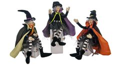 "Katherine's Collection Set THREE 18"" Tricky Treats Witch Dolls Store Sale!"