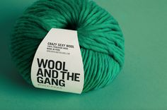 Crazy Sexy Wool in Emerald Green by Wool and the Gang