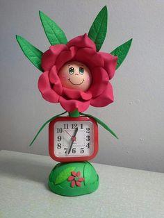 часы+цветок из пластичной замши