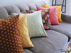 Quickest and easiest throw pillow case tutorial. Perfect for those learning to sew