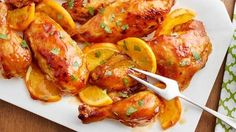 Slow-Cooker Whole Orange Chicken - Bird is the word! This easy spin on classic orange chicken is so beautiful, no one will believe it came from your slow cooker. Crock Pot Slow Cooker, Crock Pot Cooking, Slow Cooker Chicken, Slow Cooker Recipes, Crockpot Recipes, Chicken Recipes, Cooking Recipes, Baked Chicken, Pasta Recipes