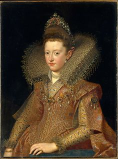 """Margherita Gonzaga (1591–1632), Princess of Mantua"", Frans Pourbus the Younger, ca. 1610; MMA 25.110.21"