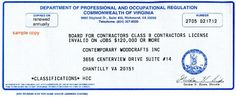 Licence For Contractor