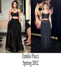 Emilio Pucci Black Maxi Skirt/dress   eBay