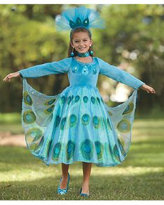 peacock princess girls costume