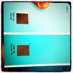 turquoise paint colors for bedroom | ... paint cards with turquoise colors for our bedroom makeover. I only use valspar paint