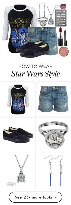 """""""Star wars"""" by dreamdesigner012 on Polyvore featuring R2, Current/Elliott, Vans, Forever 21, Essie, MAC Cosmetics, Milani, Elizabeth Arden and starwars"""
