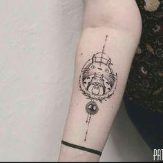 by PatriceTattoo - ɬąɬɬơơʂ ☁️ - Piercing Future Tattoos, New Tattoos, Body Art Tattoos, Small Tattoos, Tattoos For Guys, Tatuaje Studio Ghibli, Studio Ghibli Tattoo, Miyazaki Tattoo, Totoro