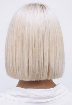 flawless platinum blonde bob More