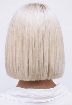 flawless platinum blonde bob                                                                                                                                                                                 More