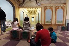 Learning about perspective, 'Renaissance' Family Activity Room