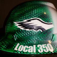 Eagles custom hard hat by ZimmerDesignZ.com